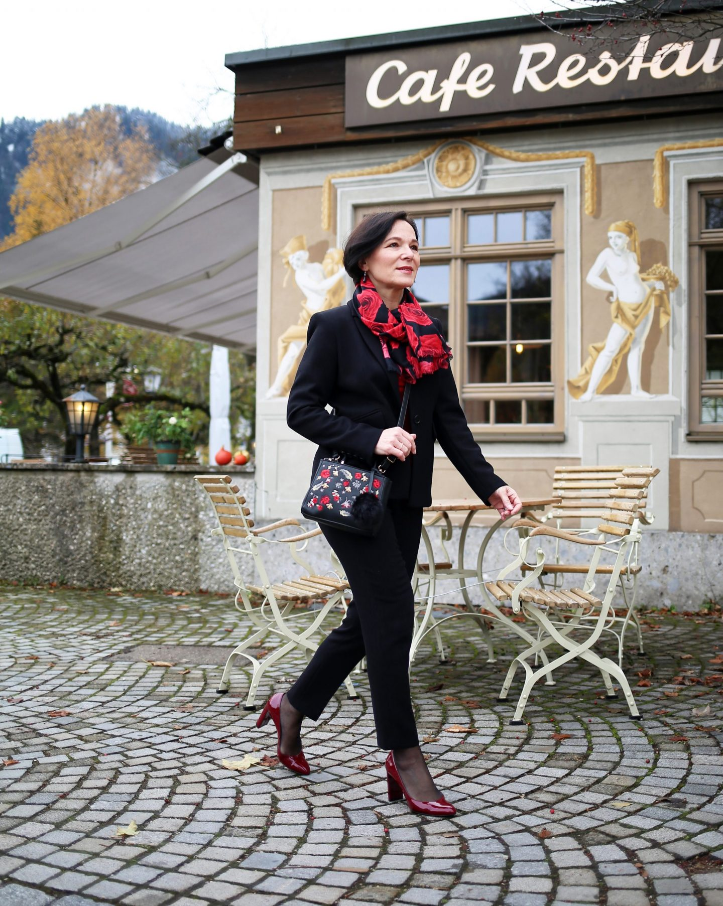 Businesslook Accessoires Rosen Schal eternal collection LadyofStyle