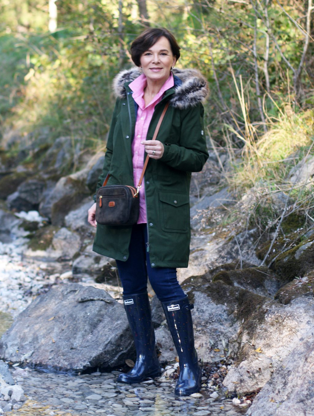 LadyofStyle The British Shop Herbstlook Outdoors Look Hunter Boots 50plus